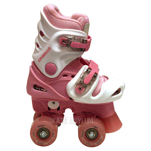 California Pro Rollo Adjustable Roller Skates - White/Pink