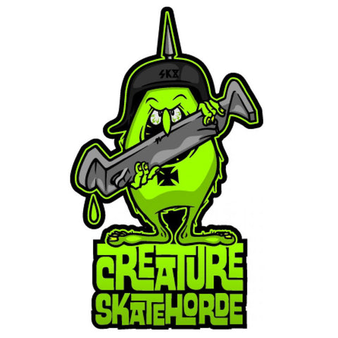 "Creature Skatehoarde Sticker 6"" - Green"
