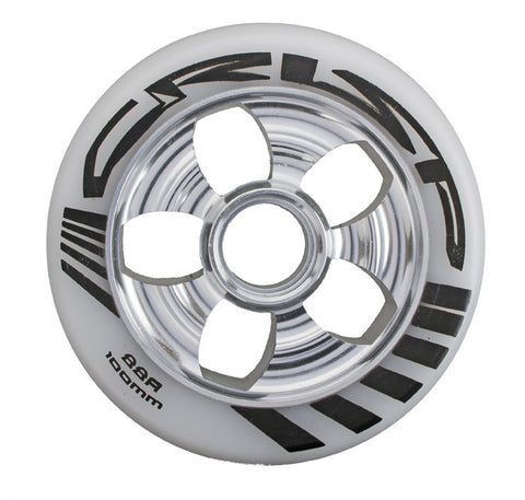 Crisp Contour 100mm Wheel - White/Silver