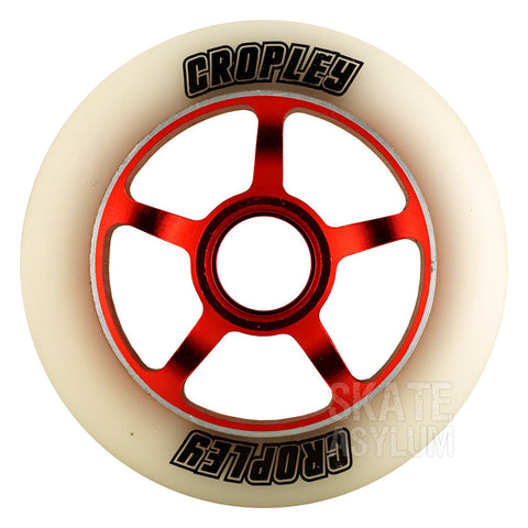Cropley 100mm Metal Core Wheel - Red