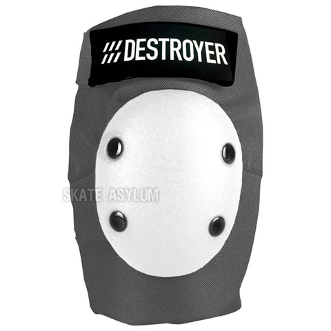 Destroyer Pro Elbow Pads Grey/White