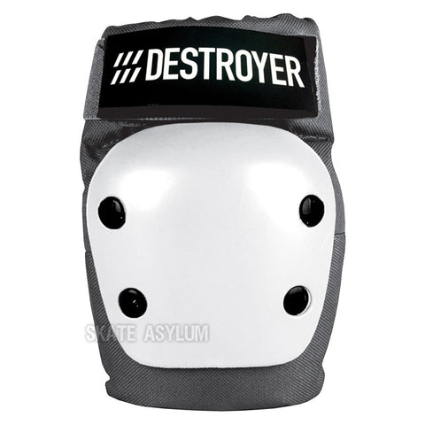 Destroyer Recreational Elbow Pads Grey/White