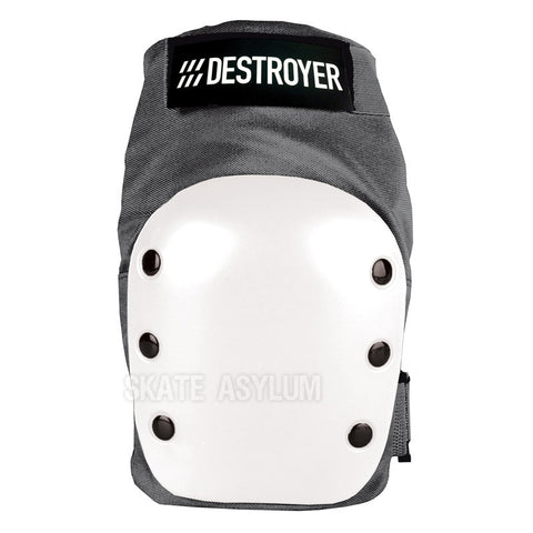 Destroyer Recreational Knee Pads Grey/White