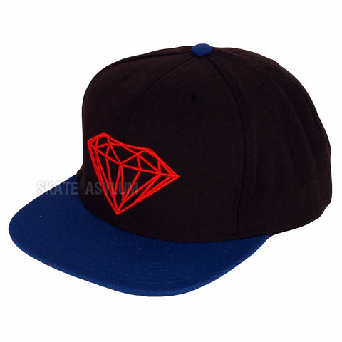 Diamond Brilliant Snapback Cap - Black/Blue