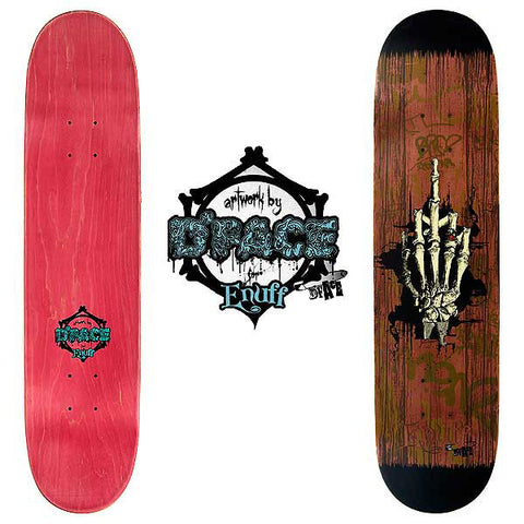Enuff D*Face Fyou&Die Skateboard Deck - Brown