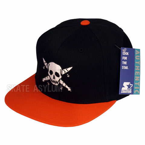 Fourstar Pirate Starter Snapback Cap Black/Orange