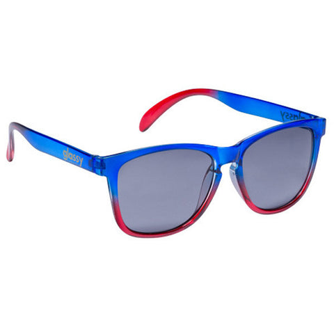 Glassy Sunhaters Deric Sunglasses Blue/Red