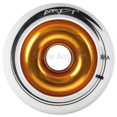 Grit 100mm Alloy Core Scooter Wheel - White/Gold