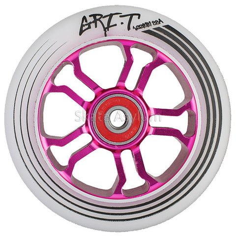 Grit Ultra Light 100mm Wheel - White/Pink