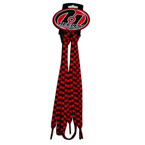 Heelys Check Shoe Laces Red/Black