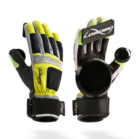 Loaded Freeride Slide Gloves - Black/Yellow