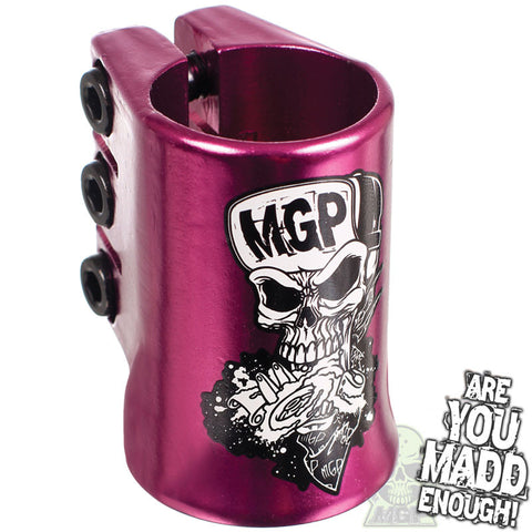 MGP Madd Hatter HIC Triple Clamp Purple