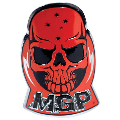 Madd MGP Alloy Skull Badge Red