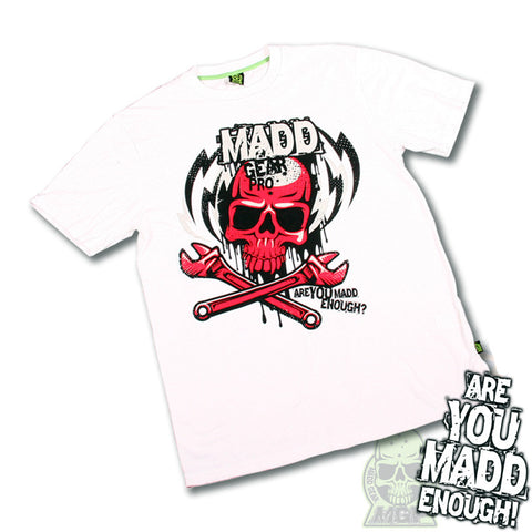 Madd MGP Lightning Bolt T-Shirt - White