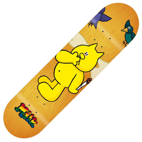 "Milk Henry Cat Skateboard Deck 8.25"" - Yellow"