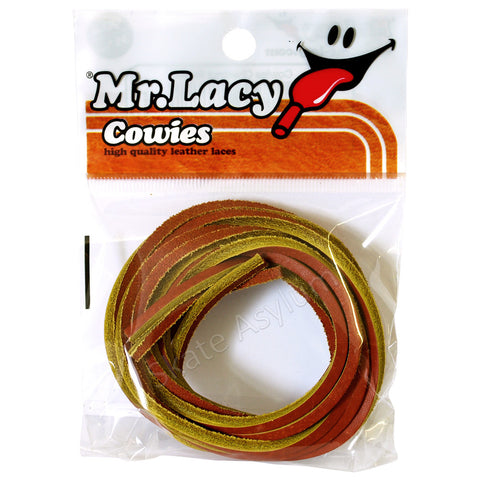 Mr Lacy Cowies Shoe Laces Chestnut Brown