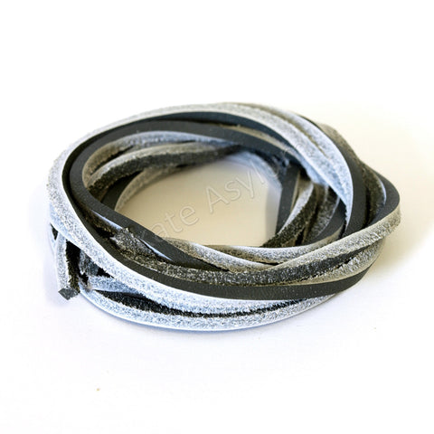 Mr Lacy Cowies Shoe Laces Dark Grey