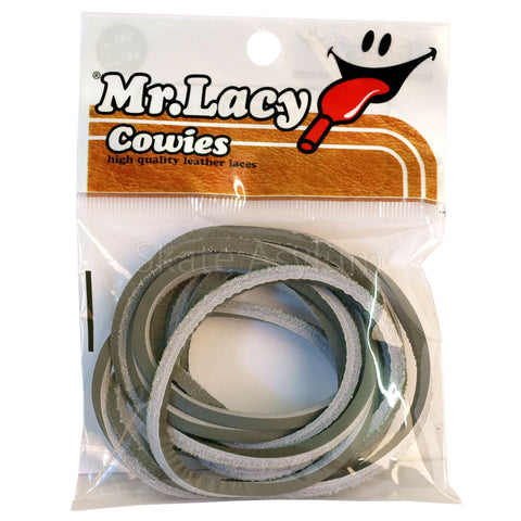 Mr Lacy Cowies Shoe Laces Grey