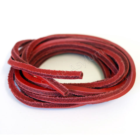 Mr Lacy Cowies Shoe Laces Red