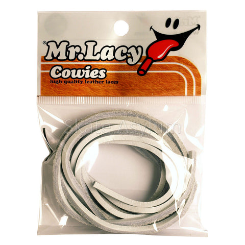 Mr Lacy Cowies Shoe Laces White
