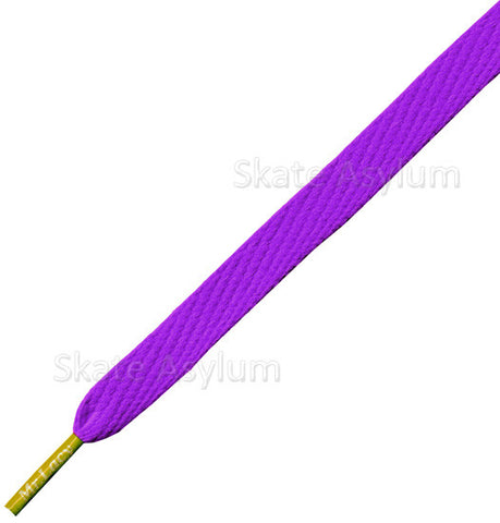 Mr Lacy Junior Flatties Shoe Laces Violet/Yellow Tip