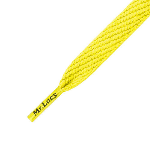 Mr Lacy Junior Flatties Shoe Laces Yellow