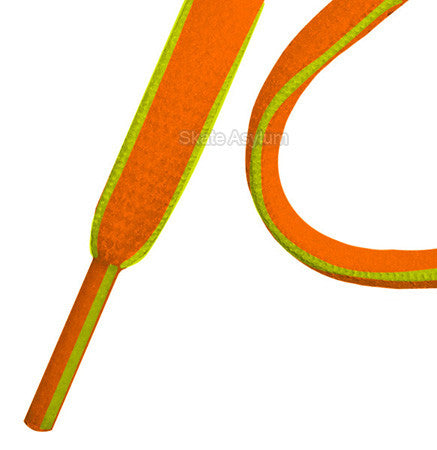 Mr Lacy Slimmies Shoe Laces Orange/Neon Lime