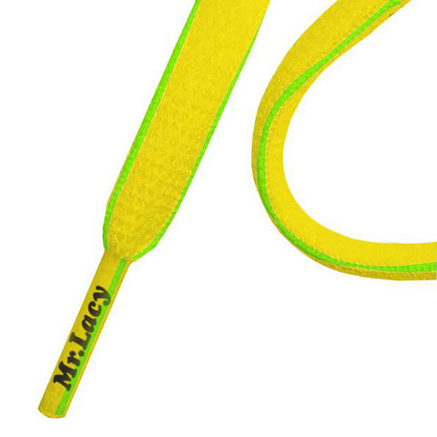 Mr Lacy Slimmies Shoe Laces Yellow/Green