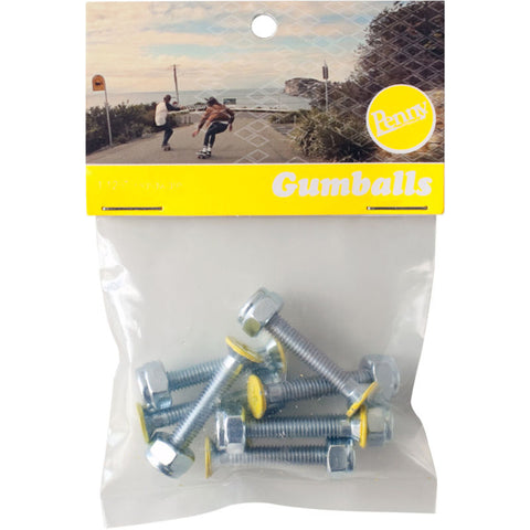 Penny Gumball Bolts - Yellow