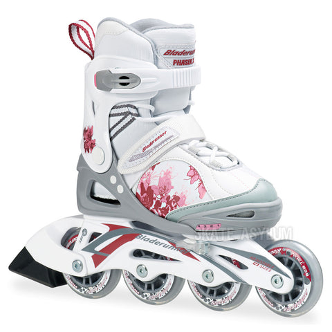 Bladerunner Phaser XR 2014 Girls Adjustable Skates - White/Pink