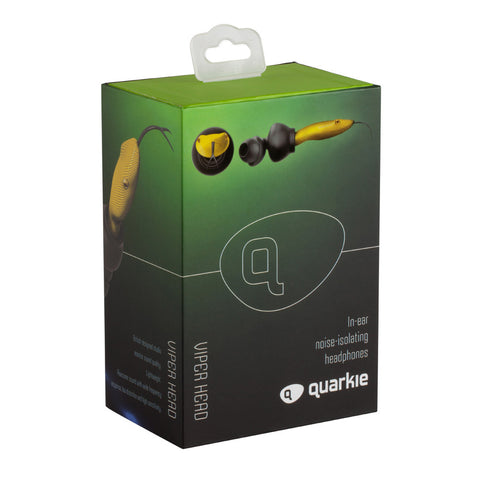 Quarkie Earphones Yellow Viper
