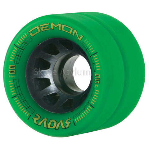 Radar Demon 62mm Roller Skate Wheels - Green