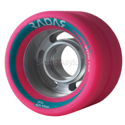 Radar Devil Ray Roller Skate Wheels - Pink 94a