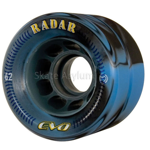Radar Evo 62mm Roller Skate Wheels - Blue/ Black