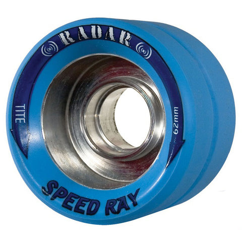 Radar Speed Ray 62mm Roller Skate Wheels - Ice Blue 93a