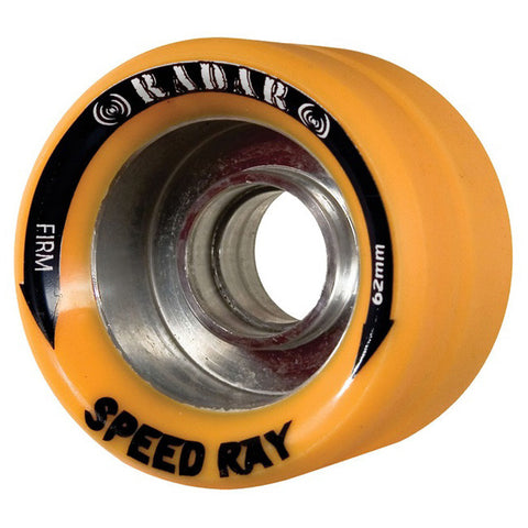 Radar Speed Ray 62mm Roller Skate Wheels - Orange 95a