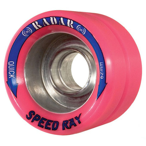Radar Speed Ray 62mm Roller Skate Wheels - Pink 94a