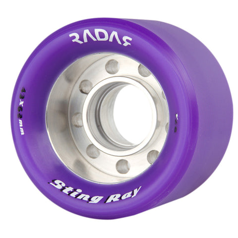 Radar Sting Ray 62mm Roller Skate Wheels - Purple 97a