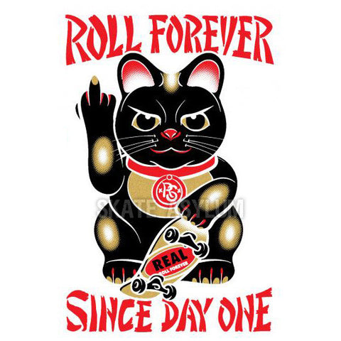 Real Good Luck Forever Sticker Black