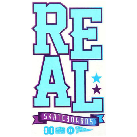 Real Skateboards UV Blast Sticker Blue