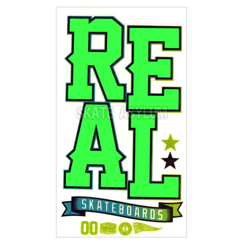 Real Skateboards UV Blast Sticker Green
