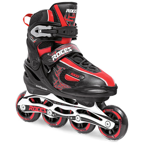 Roces Moody 1.0 Boys Adjustable Inline Skates - Black/Red