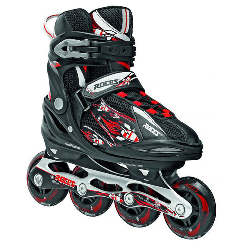Roces Moody 2.0 Adjustable Inline Skates Black/Red