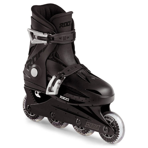Roces Orlando 2 Adjustable Inline Skates - Black