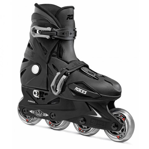 Roces Orlando 3 Adjustable Inline Skates - Black