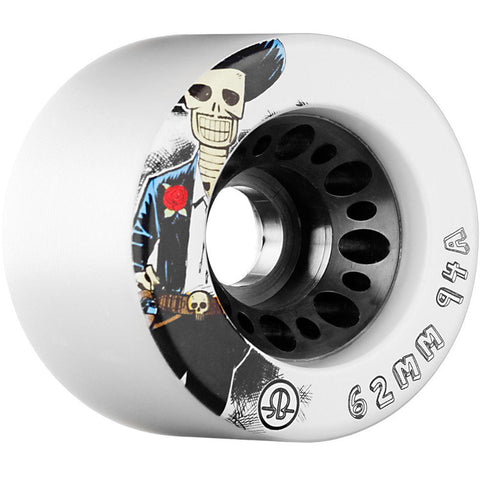 Rollerbones 62mm Day of the Dead 94a Wheels - White