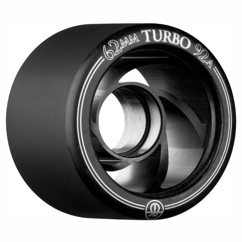 Rollerbones Turbo 62mm Black Derby Wheels 92a