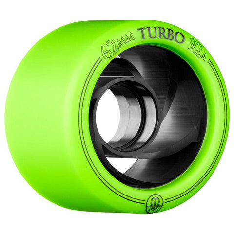 Rollerbones Turbo 62mm Green Derby Wheels 92a