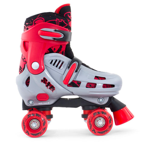 SFR Hurricane Adjustable Quad Skate Red