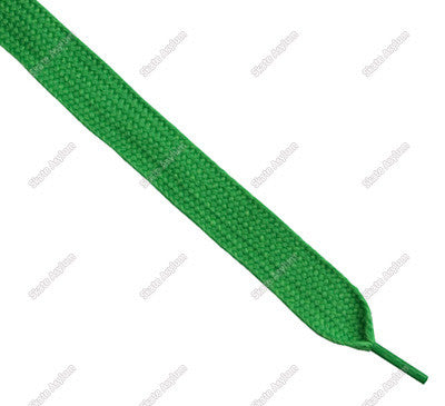 Shoe Laces Wide - Kelly Green